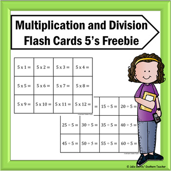 Multiplication and Division Flash Cards Freebie