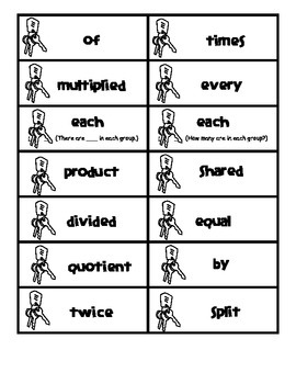 Multiplication and Division Key Word Sort