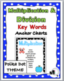 Multiplication Chart and Division Chart - Math Key Word Posters
