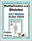 Multiplication Chart & Division Chart - Math Key Word Post