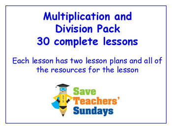 Multiplication and Division Lesson Bundle/Pack (30 Lessons
