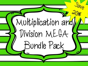 Multiplication and Division MEGA Bundle Pack
