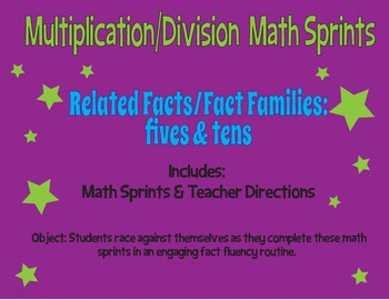 Multiplication and Division Math Sprints - Fives and Tens