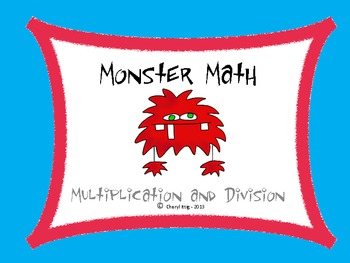 Multiplication and Division Monster Math 3.OA.3