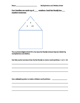 Multiplication and Division Notes 3.OA.7