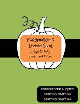 Multiplication and Division Scoot Task Cards - Halloween
