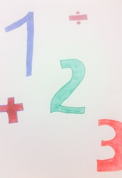 Multiplication and Division Sheet with Tiles