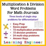 Multiplication Word Problems (Math Problem Solving) Divisi