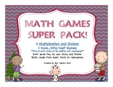 Multiplication and Division Super Math Games Pack
