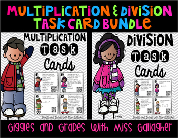 Multiplication and Division Task Cards Bundle