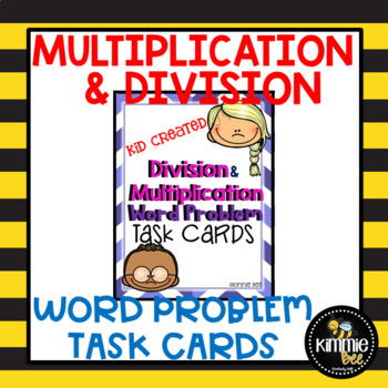 Multiplication and Division Word Problem Task Cards 3rd Gr