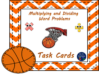 Multiplication and Division Word Problems (Task Cards)