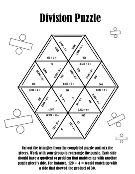 Multiplication and Long Division Puzzle