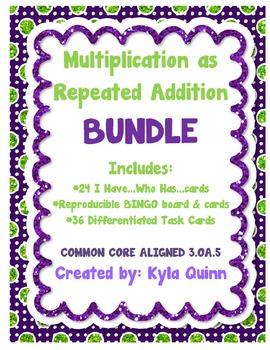 Multiplication as Repeated Addition BUNDLE 3.OA.5