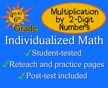 Multiplication by 2-Digit Numbers - Individualized Math -