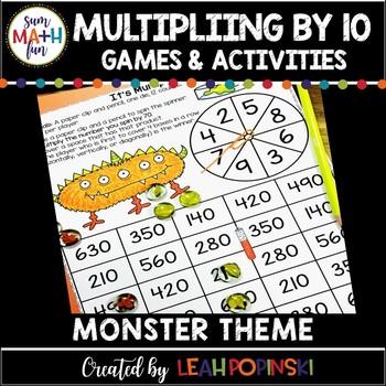 Multiplication by Tens Monster Themed