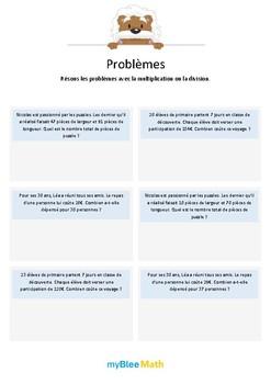 Multiplication et division 2 - Multiplications avec nombre