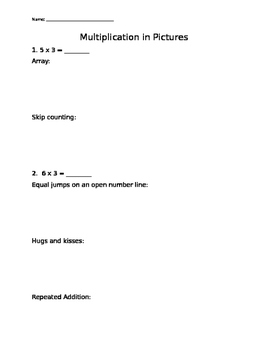 Multiplication in Pictures Assessment
