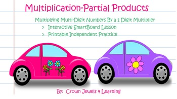 Multiplication of Multi-Digit Numbers: Partial Products Algorithm