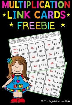 Multiplication tables loop cards / link cards - Maths
