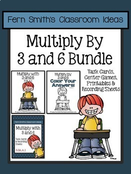 Multiplication with 3 and 6 Task Cards Center Games and Co