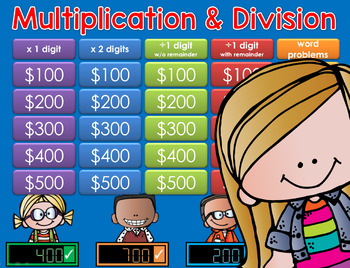 Multiplication/Division GAME SHOW - 4th Grade