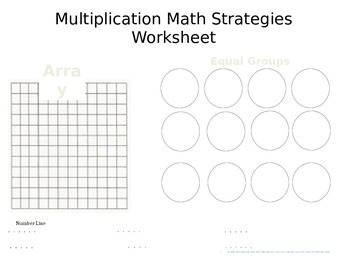 Multiplication/Division Math Strategy Worksheet