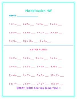 MultiplicationHomework