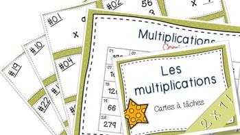 Multiplications 2x1 27 cartes à tâches