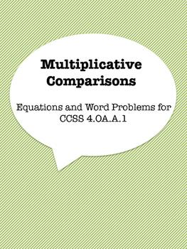 Multiplicative Comparisons Practice Sheet