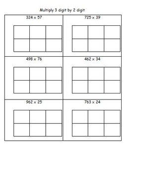 Multiply 3 digit by 2 digit