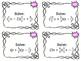 Multiply Binomials (FOIL) Task Cards