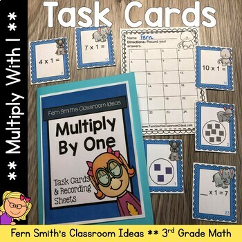 Multiply By One Task Cards