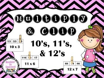 Multiply & Clip 10's, 11's & 12's