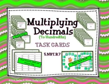 Multiply Decimals to Hundredths Task Cards