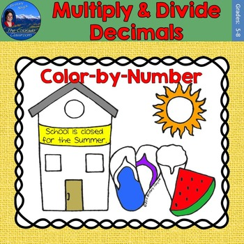 Multiply & Divide Decimals Math Practice End of Year Color