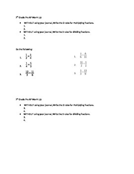 Multiply Divide Fractions
