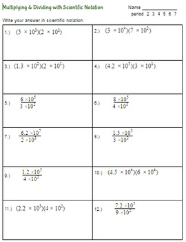 Multiply & Divide with scientific notation