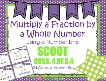Multiply Fraction by a Whole Number Scoot using a Number L