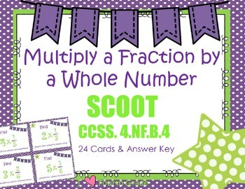 Multiply Fraction by a Whole Number Scoot CCSS 4.NF.B.4