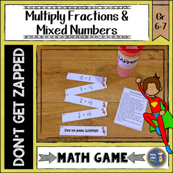 Multiplying Fractions and Mixed Numbers ZAP Math Game