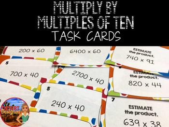 Multiply Multiples of Ten Task Cards
