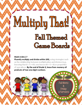 Multiply That! Fall Themed