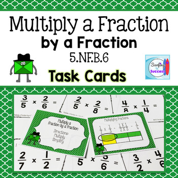Multiply a Fraction by a Fraction Task Cards