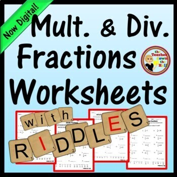 FRACTIONS - Multiply and Divide Fractions - 4 Worksheets w
