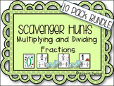 Multiply and Divide Fractions Scavenger Hunts 10-Pack