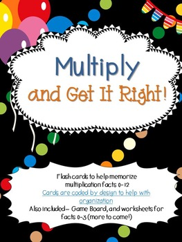 Multiply and Get It Right-Multiplication Fact Cards and Te