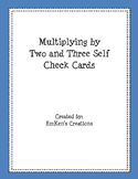 Multiply by 2 and 3 Self Check Cards