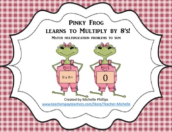 Multiply by 8's - Pinky Frog Learns to multiply by 8's!