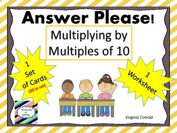 Multiply by Multiples of 10:  Task Cards and More